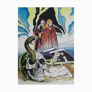 Peinture originale du milieu du siècle Horreur Comic L'Esorcista, 1970