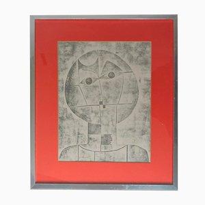 Originelles Porträt im kubistischen Rahmen