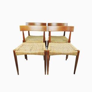 Sedie da pranzo di Arne Hovmand-Olsen per Mogens Kold, Danimarca, anni '60, set di 4
