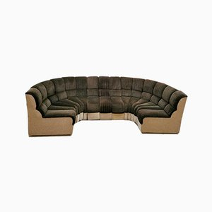Mid-Century Modular Snake Shaped Sofa