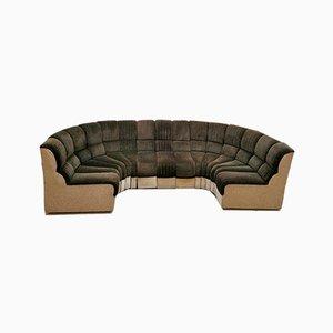 Modulares Mid-Century Sofa in Schlangen-Optik