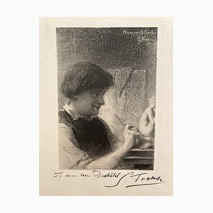 Desconocido - el Escultor - Grabado original - Principios del siglo XX