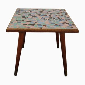 German Ceramic Mosaic Side Table, 1950s