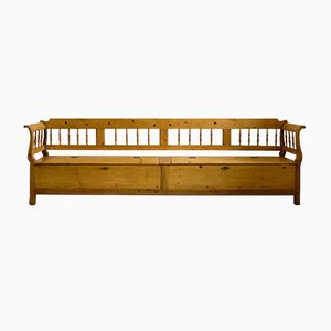 Biedermeier Chest Bench or Kitchen Bench, 1830s