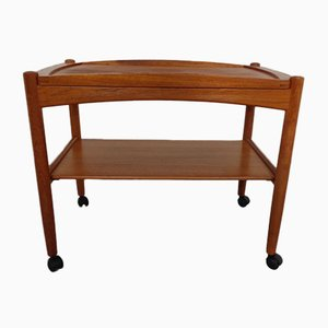 Mid-Century Danish Teak Serving Trolley from Bernstorffsminde, 1960s