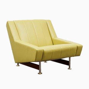 Leder Lounge Chair, 1960er Jahre