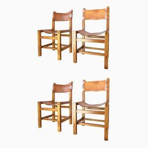Esszimmerstühle von Maison Regain, 1960er Jahre, 4er-Set