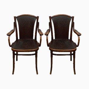 Bugholz Stühle von Thonet, 1910er, 2er Set