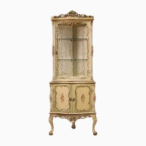 Venetian Lacquered and Painted Corner Cabinet, 1970s