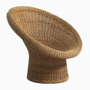 Wicker Basket Model E10 Chair by Egon Eiermann for Heinrich Murrmann, 1950s