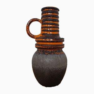 Große glasierte Lava Keramikvase von Scheurich, 1970er