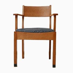 The Hague School Dutch Modernist Desk Chair, 1930s