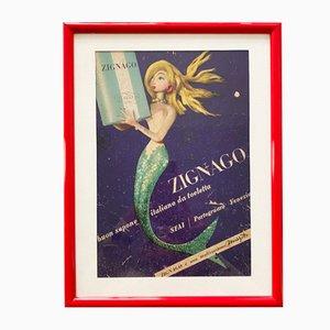 Reklame für Zignago Sapone, Italien, 1950er