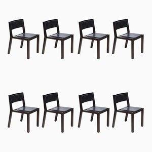 Vintage Grand Louvre Dining Chairs by Jean Michel Wilmotte for Tecno, Set of 8