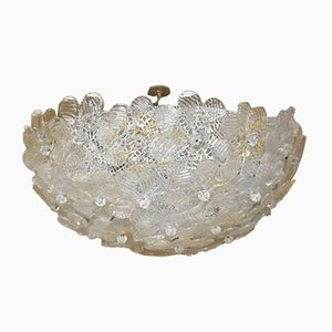 Mid-Century Murano Glass Ceiling Lamps from Barovier & Toso, 1960s, Set of 2