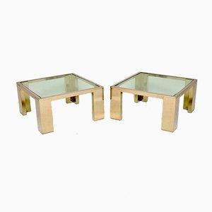 Tables d'Appoint ou Tables Basses en Chrome & Verre, 1970s, Set de 2