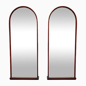 Vintage Wall Mirrors with Bevelled Glass, Set of 2