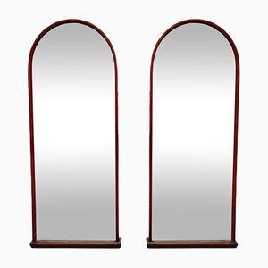 Vintage Wandspiegel mit abgeschrägtem Glas, 2er Set