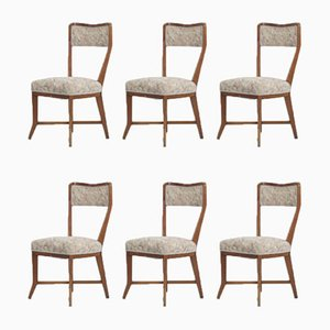 Cherry Wood Dining Chairs by Melchiorre Bega for Bega Bologna , 1950s, Set of 6