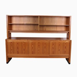 Danish Vintage Wall Cabinet With Display Case from Skovby Mobelfabrik