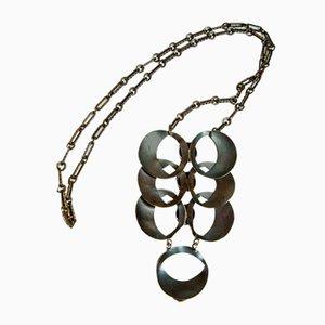 Handgefertigte Mid-Century Bronze Hängelampe mit Hängelampe, 1970er