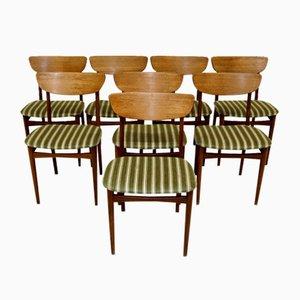 Dänische Teak-Esszimmerstühle, 1960er Jahre, 8er-Set