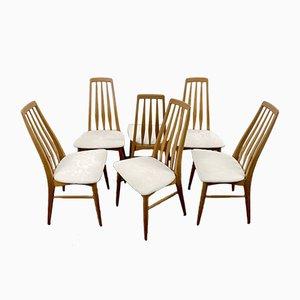 Chaises de Salle à Manger Eva en Teck par Niels Koefoed pour Koefoeds Hornslet, Danemark, 1960s, Set de 6