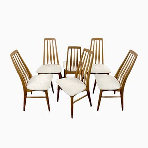 Teak Eva Dining Chairs by Niels Koefoed for Koefoeds Hornslet, Denmark, 1960s, Set of 6