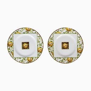 Italian Porcelain Plates from Richard Ginori, Set of 2