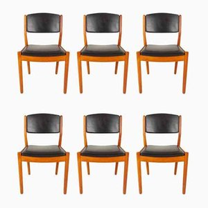 Danish J 61 Dining Chairs by Poul Volther for FDB Møbler, 1967, Set of 6