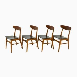 Dänische Teak-Esszimmerstühle, 1960er Jahre, 4er-Set