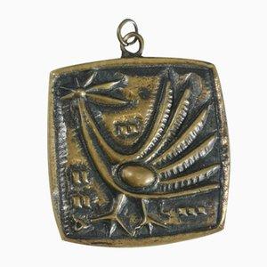 Mid-Century Brass Collier avec pendentif oiseaux Motif L. Domotor, 1970