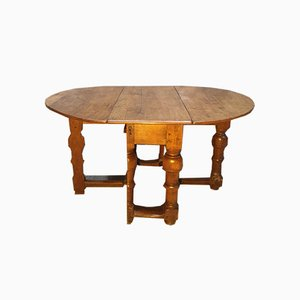 17th Century Oak Drop Leaf Table