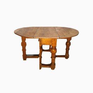Table à abattant en chêne XVIIe siècle