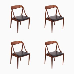 Mid-Century Danish Model 16 Dining Chairs by Johannes Andersen for Uldum Furniture Factory, 1960s, Set of 4