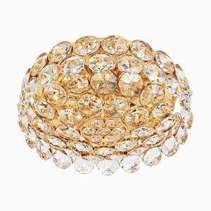 Kronleuchter aus Vergoldetem Messing & Kristallglas von Palwa, 1970er