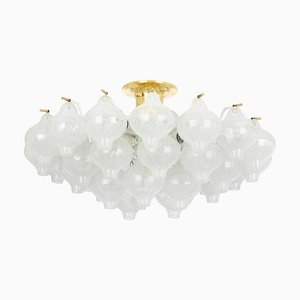 Large Tulip Glass Flush Mount from Kalmar, Austria, 1960s