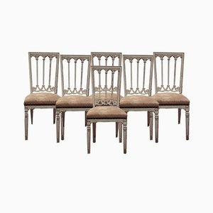 Chaise d'Appoint Antique de Style Louis XVI