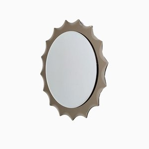 Sun-Shaped Wall Mirror in the Style of Cristal Art, 1970s