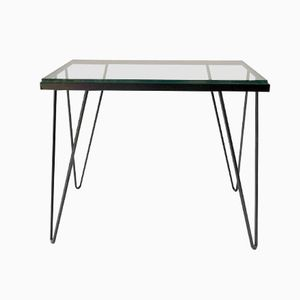 French Tubular Metal Console Table, 1950