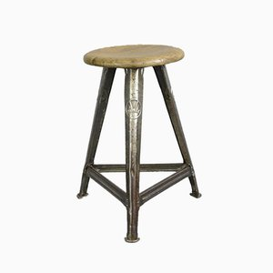 Industrial Factory Stool from Rowac, 1920s