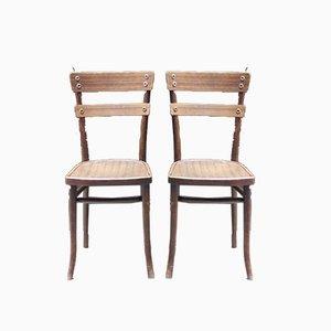 Antike Beistellstühle von Michael Thonet, 2er Set