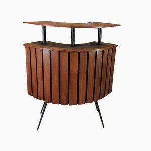 Teak Wood and Metal Bar, 1960s