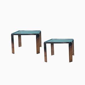 Tables d'Appoint en Chrome de Romeo Rega, Italie, 1970s, Set de 2