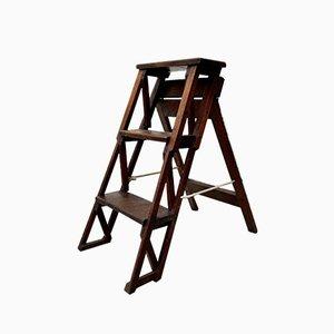Vintage Wooden Folding Step Ladder