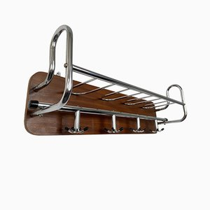 Scandinavian Teak and Chrome Rack, 1960s