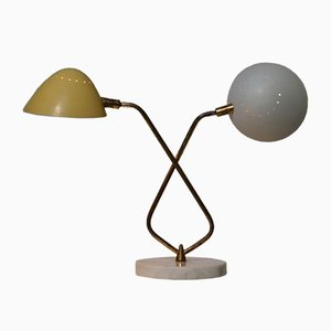 Lampe de Bureau Mid-Century avec 2 Abat-jour de Lumen
