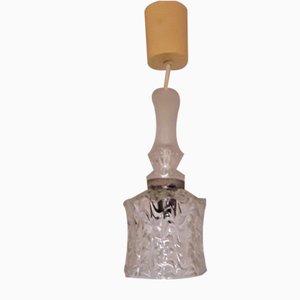 Plafonnier Vintage en Verre Transparent et en Métal