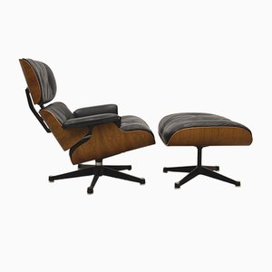 Lounge Chair with Ottoman by Ray & Charles Eames for Fehlbaum by Herman Miller, 1960s, Set of 2