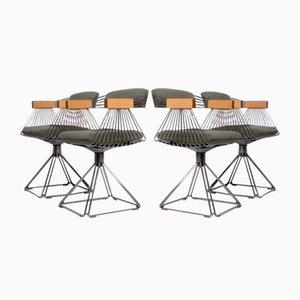 Delta Esszimmerstühle von Rudi Verelst für Novalux, 1971, 4er Set